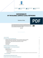 Sustainability of the global compact local networks