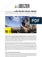 Deezer & Die Berlin Music Week