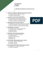Tematica Licenta Fb - 2012