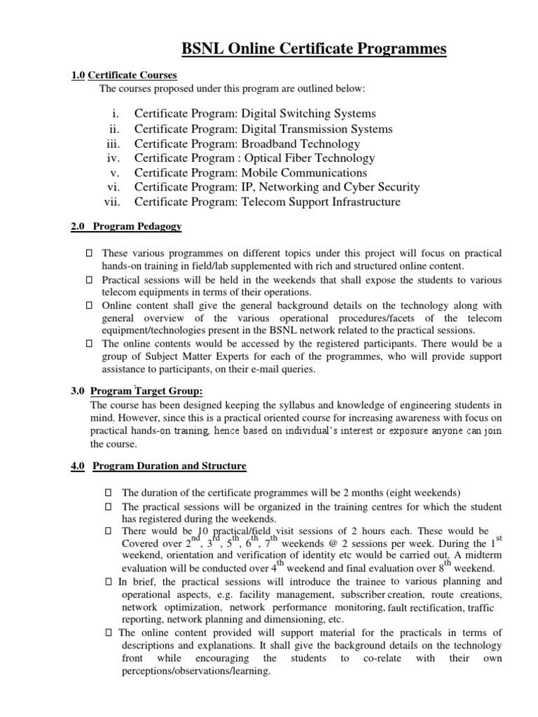 Bsnl onlinecourses telecommunication professional certification xflitez Choice Image