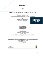 Project Online Job Placement System