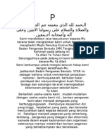 Doa Kursus Kepimpinan Badan Pengawas Bersatu 2004.doc