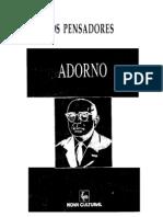 Os Pensadores - Vol. 48-3 (1996). Adorno
