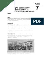 Historia da Educação Brasileira aula 7