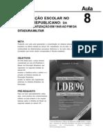 Historia da Educação Brasileira aula 8