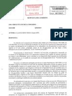 Respuesta Gobierno a Llamazares, sobre el RD 1851/2009 y los CSUR, 19-06-2013