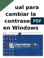 manual cambio de contraseña windows 8