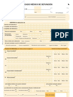 Certificado de Defunción Formulario