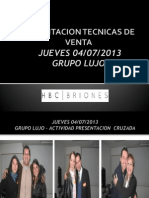 Capacitacion Tecnicas de Venta Julio 2013 04-07-2013
