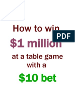 How to Win $1 Million at a Table Game With a $10 Bet