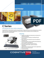 CognitiveTPG C-Series Desktop Thermal Printer