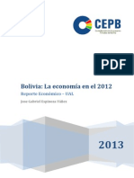 La economía en el 2012