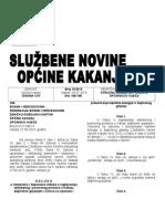 Službene Novine Opcine Kakanj 2013