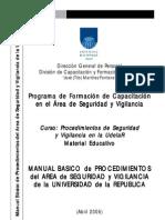 Manual Basico de Procedimientos Del Area de Seguridad y Vigilancia en La Universidad URUGUAY