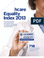 Human Rights Campaign Foundation's LGBT Healthcare Equality Index 2013