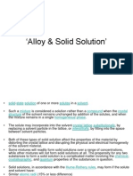 Alloy & Solid Solution