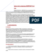 Plan estratégico de la empresa SERPOST S