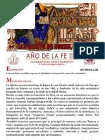 Hora santa en la fiesta de San Benito Abad, Patrono de Europa.