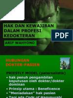 HUBUNGAN DOKTER - PASIEN
