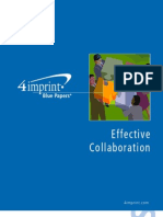 Effective Collaboration Blue Paper by promotional products retailer 4imprint