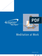 Meditation at Work Blue Paper by promotional products retailer 4imprint
