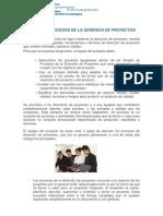 AMBIENTE Y PROCESOS DE LA GERENCIA DE PROYECTOS