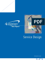 Service Design Blue Paper by promotional products retailer 4imprint