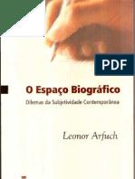 ARFUCH, Leonor. O espaço biográfico