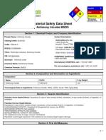 Antimony Trioxide - MSDS