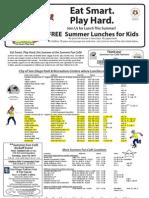 Free Summer Food Flyer 2013