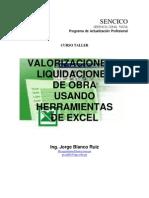 Liquidaciones y Valorizaciones de Obra en Excel