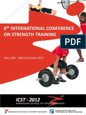 ICST Book of Abstracts | Strength Training | Physical Exercise