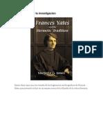 Frances Yates y La Investigacion