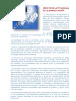 IMPACTO DE LA TECNOLOGÍA EN LA ADMINISTRACIÓN