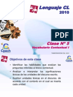 Clase 05 Lenguaje Cpech - Vocabulario Contextual (OliverClases)