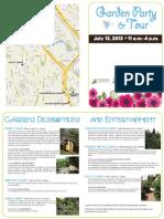 2013 Tukwila Garden Tour and Party map