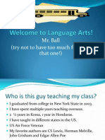 English 7 First Day Introduction