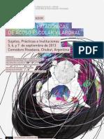 Programa I JORNADAS PATAGÓNICAS DE ACOSO ESCOLAR Y LABORAL