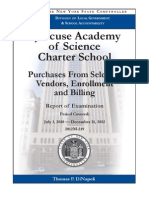 Audit of the Syracuse Academy of Science Charter School, July 2013