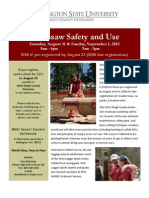 Chainsaw Training Flyer
