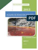 Aguas Acidas en Mineria