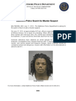 Press Release July 11 2013 Murder Suspect Darryl Anderson