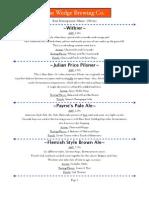 Wedge Brewery Beer Descriptions 7-8-2013