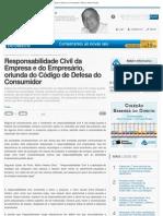 Responsabilidade Civil da Empresa e do Empresário, oriunda do Código de Defesa