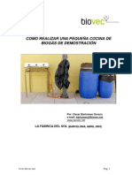 Construir Cocina Biogas