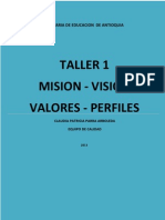 Taller 1 Mision Vision 2013