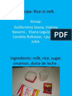 Our Food - Rice in Milk