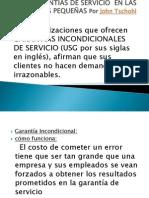 GARANTIAS DE SERVICIO  EN LAS EMPRESAS PEQUEÑAS