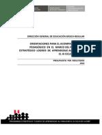 Orientaciones Acompanamiento Pedagogico EBR