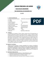 Dionicio Milla-Silabo M de SUELOS II-2012-II